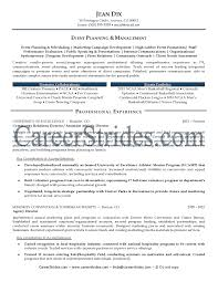 Resume Sample Logistics by Creative Event Planner Resume Sample Recentresumes Com