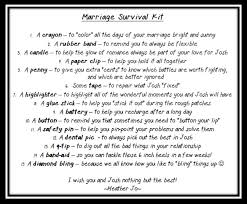 wedding gift kits wedding shower gift marriage survival kit with a few changes