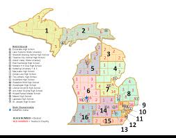 Michigan Counties Map Michigan Districts Map Michigan Map