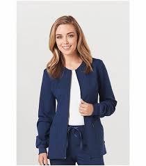 code happy s zip front warm up scrub jacket ch312a