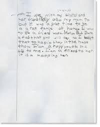 second grade writing sample 1 reading rockets