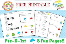 printable kindergarten worksheet pack