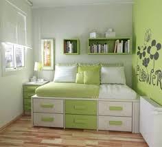 interior artistic green bedroom decoration using light green