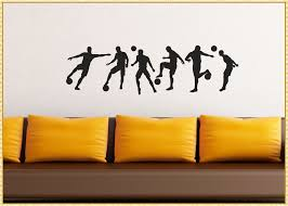 amazing soccer wall decals how to decorate a room for child image of popular soccer wall decals