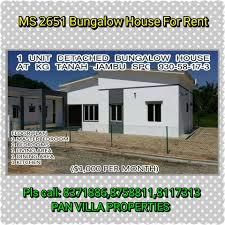 pan villa properties u2013 ms 2651 single storey bungalow for rent