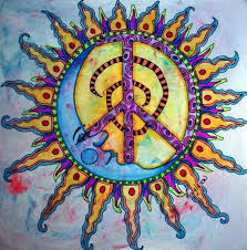 peace sign peace peace mermaid paintings and draw