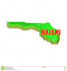 Miami Florida Map by Map Of Florida With Miami Icon Cartoon Style Stock Vector Image