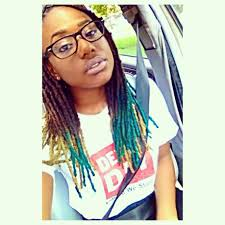 hair style with color yarn this beauty dyed the tips of some of her dreads using manic