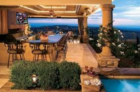 Backyard Designs With Pool And Outdoor Kitchen With Fine Backyard - Backyard designs with pool and outdoor kitchen