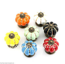 40mm pumpkin ceramic knobs bedroom kitchen door cabinet cupboard
