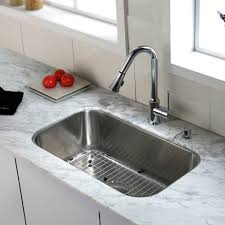 kitchen faucet with soap dispenser kraus kbu14 kpf1650 ksd30ch 30 inch undermount single bowl