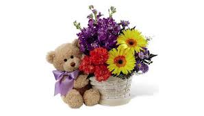 teddy bears in balloons teddy bears balloons and flowers grower direct