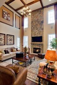 Best Two Story Rooms Images On Pinterest Living Spaces High - Two story family room decorating ideas