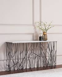 hooker furniture console table hooker furniture silver strands console table neiman marcus