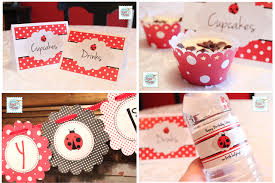 printable birthday decorations free ladybug themed birthday party with free printables how to nest for
