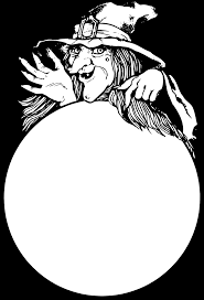 halloween witch holding crystal ball clipart clipartbarn
