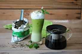 Teh Matcha teh hijau thai latte thai green tea latte jus