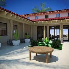 marina outdoor patio teak round coffee table manhattan home design