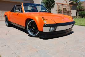 classic porsche 914 orange porsche 914 is cool because it has a 3 2 liter swap