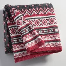 fair isle knit throw world market