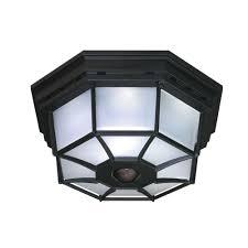 4 Ceiling Lights Heath Zenith 360 Degree 4 Light Black Motion Activated Octagonal