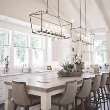 dining room island tables white natural base wooden dining table