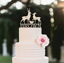 buck and doe cake topper wedding rustic cake topper deer silhouette cake topper