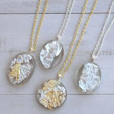 resin chain necklace images Diy gold silver leaf resin pendants resin crafts jpg