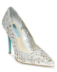 betsey johnson blue wedding shoes blue by betsey johnson sb elsa silver wedding shoes the knot