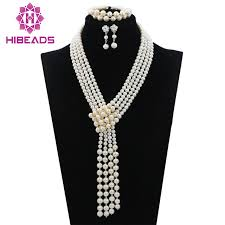 white pearl beaded necklace images Buy pure white pearl beads jewelry set nigerian jpg