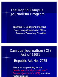 The Deped Campus Journalism Program Journalism Mass Media