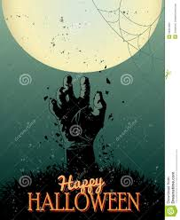 halloween zombie party poster stock photo image 34931020