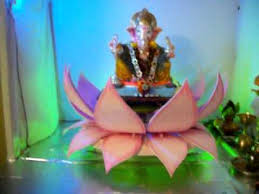 Home Ganpati Decoration My Home Ganpati Decoration Youtube