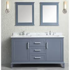 single sink to double sink plumbing ace 60 inch double sink whale grey bathroom vanity set with mirror