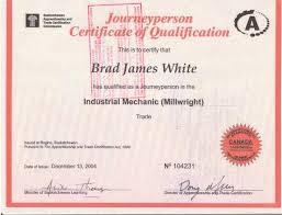 Millwright Resume Sample by Certificates And Downloads Brad J White Online Resume