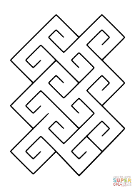 celtic spiral tile pattern coloring page free printable coloring