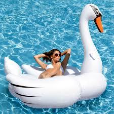 amazon pool floats amazon com kangaroo s giant swan pool float 80 inflatable raft