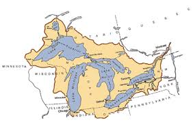 map of michigan lakes deq great lakes map