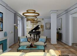 art deco home interiors light sunny moderate art déco apartment in blue shades home