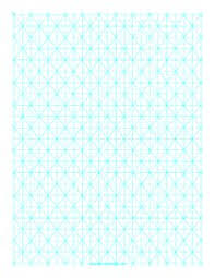 this letter sized isometric graph paper has half inch figures