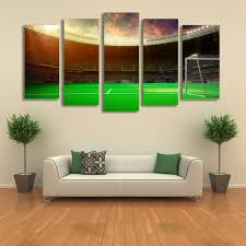 football playground world cup 5 panel painting picture for living