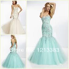 Light Blue Mermaid Dress New Side Slit Elie Saab Formal Evening Dresses Court Train Long