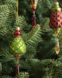 set of 12 mistletoe and holly ornaments balsam hill