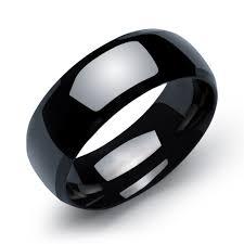 black wedding rings for men 1 stainless steel couples rings for men women black wedding