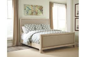 Demarlos Queen Upholstered Bed Ashley Furniture HomeStore - Ashley furniture homestore bedroom sets