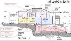 sloping lot house plans sloped associated designs hillside slope