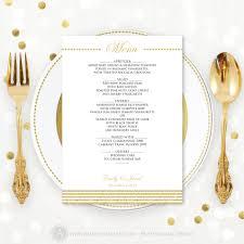 printable wedding menu template instant wedding menu download