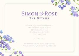 Wedding Reception Card Lavender Flowers Wedding Reception Card Templates By Canva