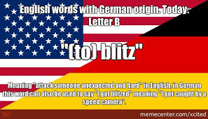 Meaning Of Meme In English - english words with german origin today letter b by xcited meme