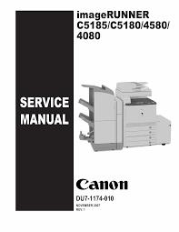 canon imagerunner ir c5185 c5180 c4580 c4080 5185 5180 4580 4080